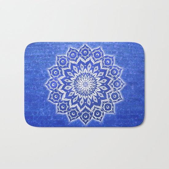 okshirahm, blue crystal Bath Mat