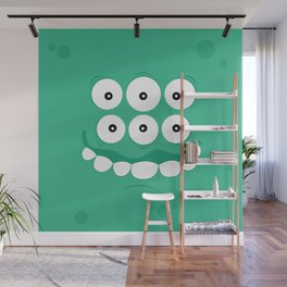 Psychos - Crazy Monsters (Turquoise) Wall Mural