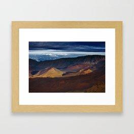 Haleakala Crater Framed Art Print