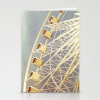ferris wheel Stationery Cards featuring Ferris Wheel by The Last Sparrow