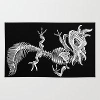 bouletcorp Area & Throw Rugs featuring Axolotl Skeleton by Bouletcorp