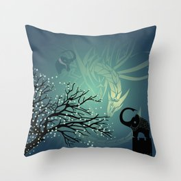 Dance of the Dragon Throw Pillow
