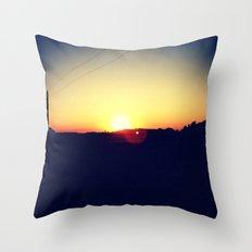 Summer Sets Throw Pillow