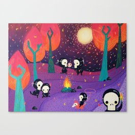 ALIENS PLAYING DEAD Canvas Print