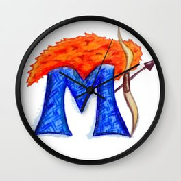 M is for Merida Wall Clock