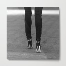 Excess Black and White Metal Print