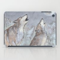 wolves iPad Cases featuring Wolves by Jen Hallbrown