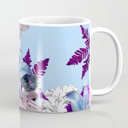 LILY SILVER BLUE AND PURPLE WITH WHITE HYDRANGEAS Coffee Mug