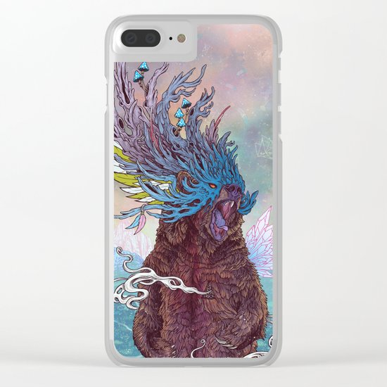 Journeying Spirit (Bear) Clear iPhone Case