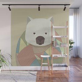Whimsical Wombat Wall Mural