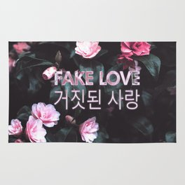 Fake Love Pink Floral Rug