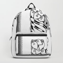 Zentangle K Monogram Alphabet initial Backpack