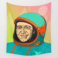kevin russ Wall Tapestries featuring Kevin Spacey by IvaDim