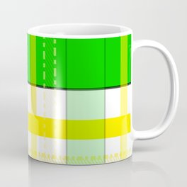 Yellow and Green Plaid Coffee Mug