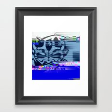 Glitchy Maul Framed Art Print