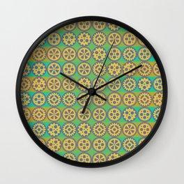 Gearwheels pattern Wall Clock