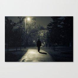 winter walk; morning commute Canvas Print