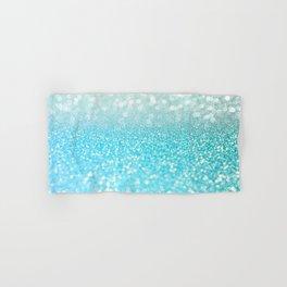 Mermaid Sea Foam Ocean Ombre Glitter Hand & Bath Towel