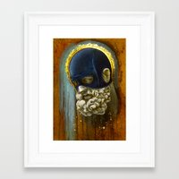 "hercules Framed Art Prints featuring ""Masked Hercules"" by Bryan Lanier"