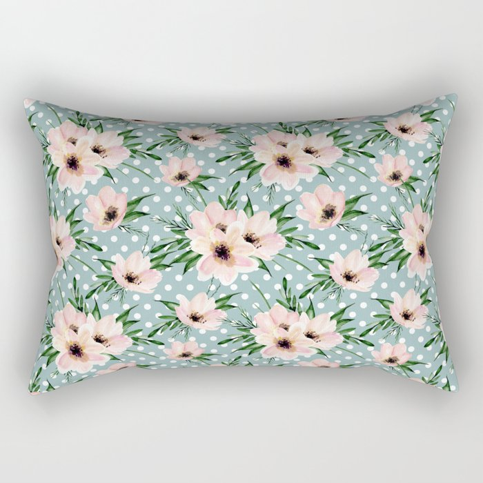 Vintage pattern. Watercolor flowers Rectangular Pillow