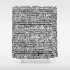Vintage Brick Wall Shower Curtain