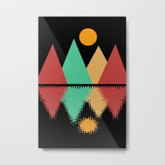 Moon Over Four Peaks Metal Print