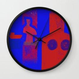 Boat man and women Wall Clock