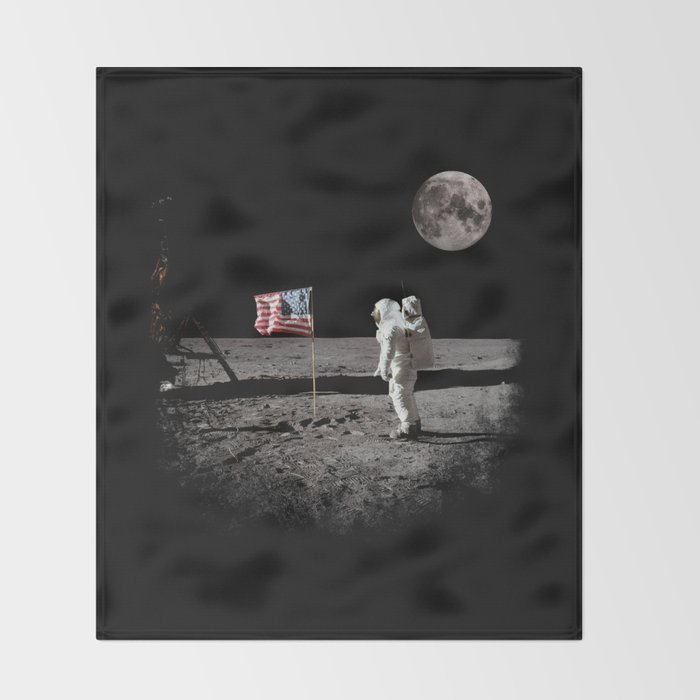 The Great Conspiracy: The Moon Is a Lie Throw Blanket