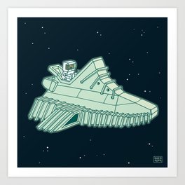 space sneaker 4 Art Print