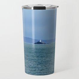 Godrevy Lighthouse in Cornwall Travel Mug