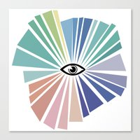 all seeing eye Canvas Prints featuring All seeing eye  by Nobra