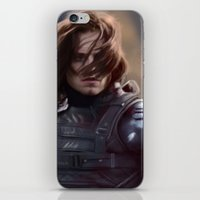 winter soldier iPhone & iPod Skins featuring Winter Soldier by LindaMarieAnson