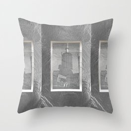 Americana - Chicago - Triple Silver - July 1962 Throw Pillow
