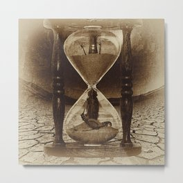 Sands of Time ... Memento Mori - Sepia Metal Print