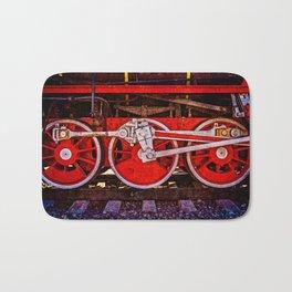Vintage Steam Train Wheels Bath Mat