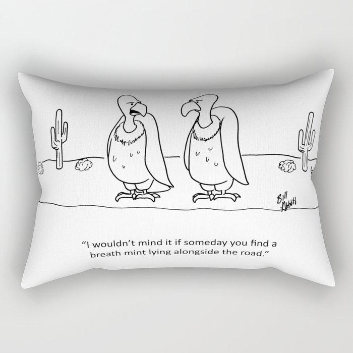 """""""Vulture Breath Mint"""" Rectangular Pillow"""
