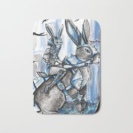 Apocolypse Bunny and Rabbit Girl Bath Mat
