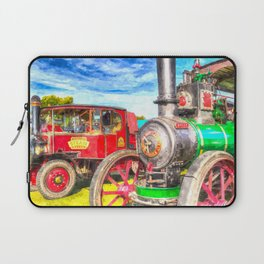 Traction Engine And Steam Lorry Art Laptop Sleeve