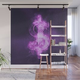 Dollar sign, Dollar Symbol. Monetary currency symbol. Abstract night sky background. Wall Mural