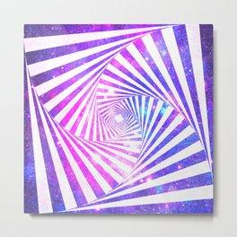 Hypnotic Galaxy Purple Pink Blue Metal Print