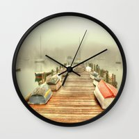 cape cod Wall Clocks featuring Cape Cod Mornings 2 by Raymond Earley