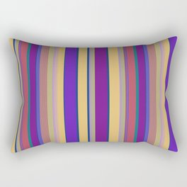 awning stripe Rectangular Pillow