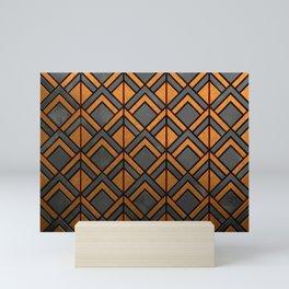 Cascading Squares Copper and Black - Art Deco Pattern Mini Art Print