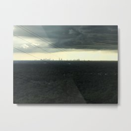 Atlanta Under a Storm Metal Print