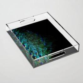 Peacock Details Acrylic Tray