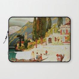 Switzerland and Italy Via St. Gotthard Travel Poster Laptop Sleeve