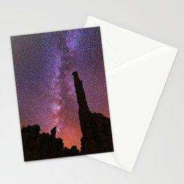 Milky Way Sunset over Mono Lake Tufa Towers Stationery Cards