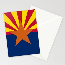 Arizona State flag, Authentic version - color and scale Stationery Cards