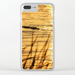 Sunset Swim Clear iPhone Case