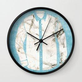 Blue Tshirt Wall Clock